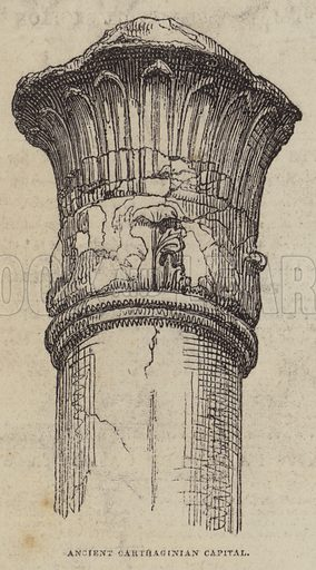 Ancient Carthaginian Capital. Illustration for The Pictorial Times, 7 March 1846.