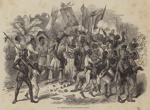 The Negro Festival of St Rosalia at Rio. Illustration for The Pictorial Times, 18 April 1846.