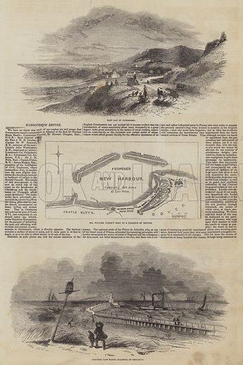 Harbours of Refuge. Illustration for The Pictorial Times, 18 April 1846.