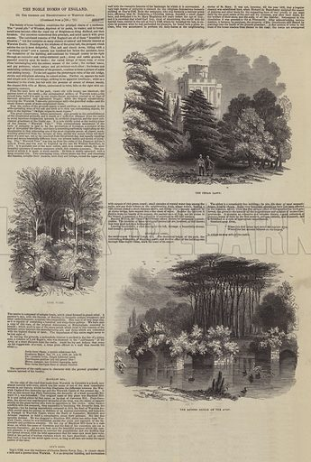 The Grounds and Neighbourhood of Warwick Castle. Illustration for The Pictorial Times, 9 May 1846.