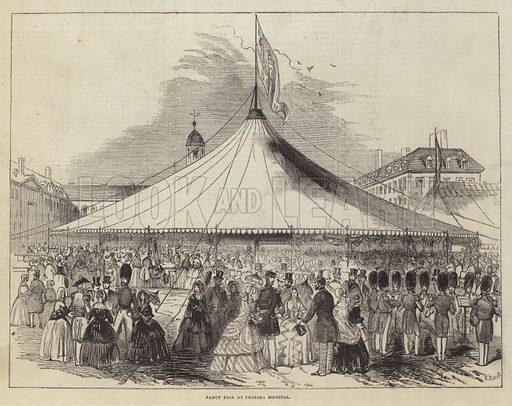 Fancy Fair at Chelsea Hospital. Illustration for The Pictorial Times, 20 June 1846.