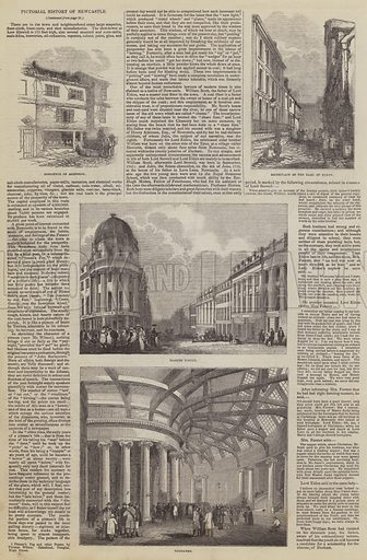Pictorial History of Newcastle. Illustration for The Pictorial Times, 11 July 1846.