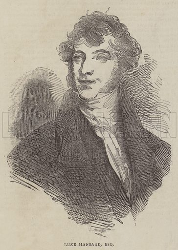 Luke Hansard, Esquire. Illustration for The Pictorial Times, 11 July 1846.