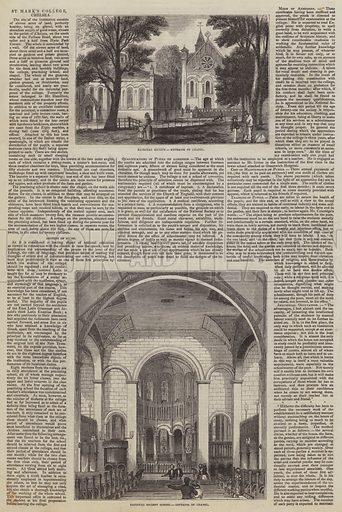 St Mark's College, Chelsea. Illustration for The Pictorial Times, 8 August 1846.