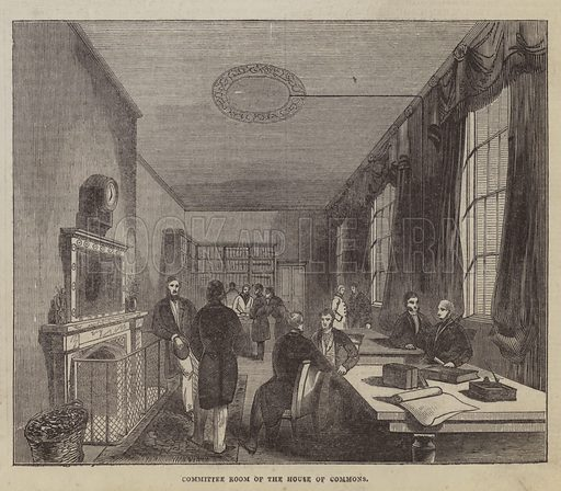 Committee Room of the House of Commons. Illustration for The Pictorial Times, 22 August 1846.