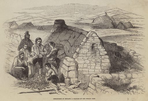 Destitution in Ireland, Failure of the Potato Crop. Illustration for The Pictorial Times, 22 August 1846.