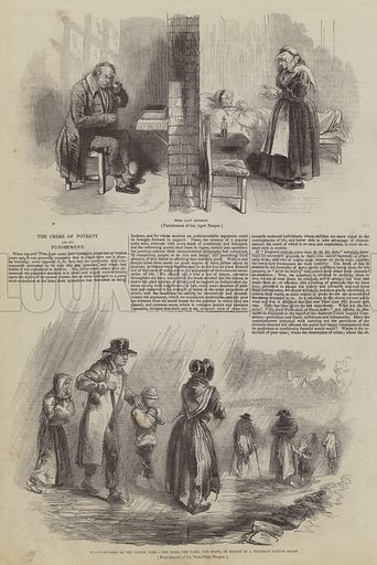 The Crime of Poverty and its Punishment. Illustration for The Pictorial Times, 29 August 1846.