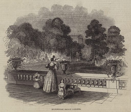 Buckingham Palace Gardens. Illustration for The Pictorial Times, 5 September 1846.