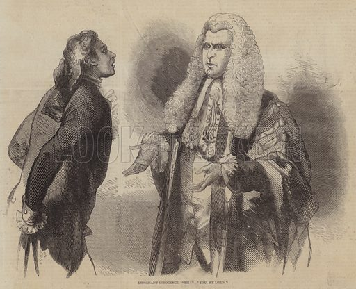 Indignant Innocence. Illustration for The Pictorial Times, 19 September 1846.