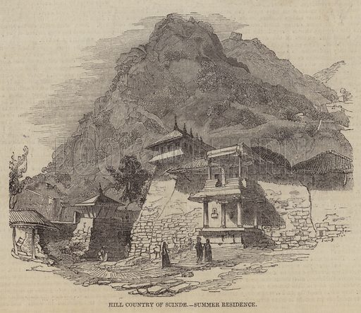Hill Country of Scinde, Summer Residence. Illustration for The Pictorial Times, 19 September 1846.