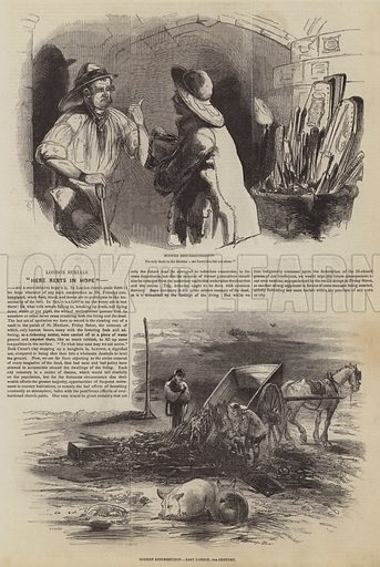 London Burials. Illustration for The Pictorial Times, 19 September 1846.