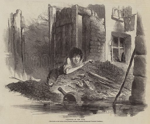 Condition of the Poor. Illustration for The Pictorial Times, 10 October 1846.