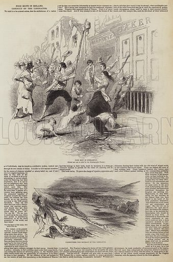 Food Riots in Ireland, Conduct of the Liberator. Illustration for The Pictorial Times, 10 October 1846.