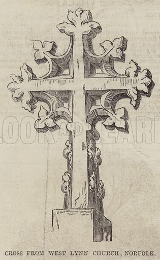 Cross from West Lynn Church, Norfolk. Illustration for The Pictorial Times, 7 November 1846.