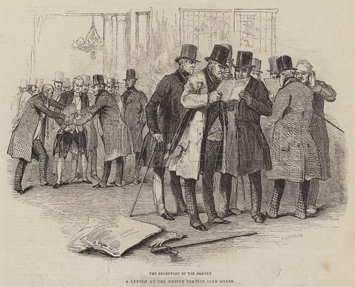 The Reception of the Brevet. Illustration for The Pictorial Times, 14 November 1846.