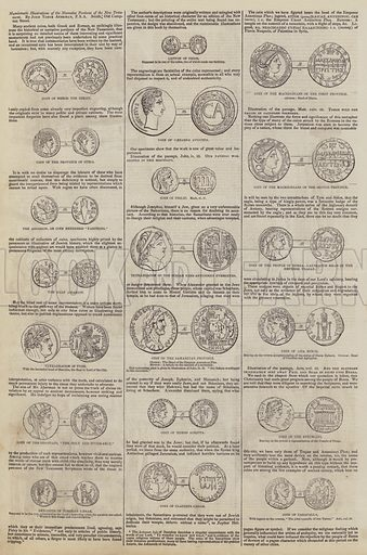 Numismatic Illustrations of the Narrative Portions of the New Testament, by John Yonge Akerman. Illustration for The Pictorial Times, 14 November 1846.