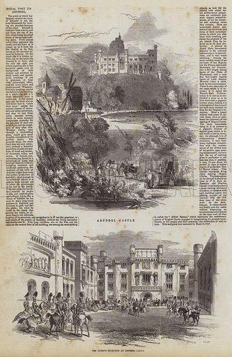 Royal Visit to Arundel. Illustration for The Pictorial Times, 5 December 1846.