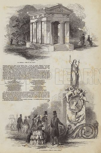 All Souls' Cemetery in Kensall Green. Illustration for The Pictorial Times, 19 December 1846.