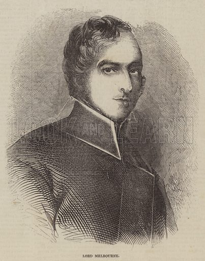 Lord Melbourne. Illustration for The Pictorial Times, 26 December 1846.