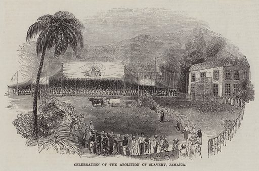 Celebration of the Abolition of Slavery, Jamaica. Illustration for The Pictorial Times, 16 October 1847.