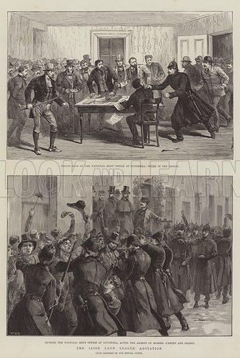The Irish Land League Agitation. Illustration for The Illustrated London News, 1 January 1887.
