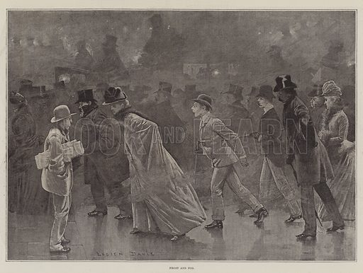 Frost and Fog. Illustration for The Illustrated London News, 1 January 1887.