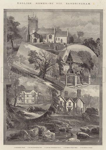 Sandringham. Illustration for The Illustrated London News, 1 January 1887.