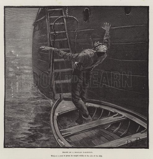 The Crusade of the Excelsior, by Bret Harte. Illustration for The Illustrated London News, 5 February 1887.
