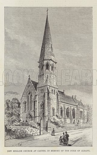 New English Church at Cannes, in Memory of the Duke of Albany. Illustration for The Illustrated London News, 26 February 1887.