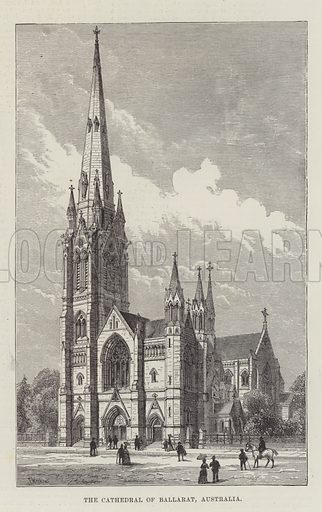 The Cathedral of Ballarat, Australia. Illustration for The Illustrated London News, 26 February 1887.