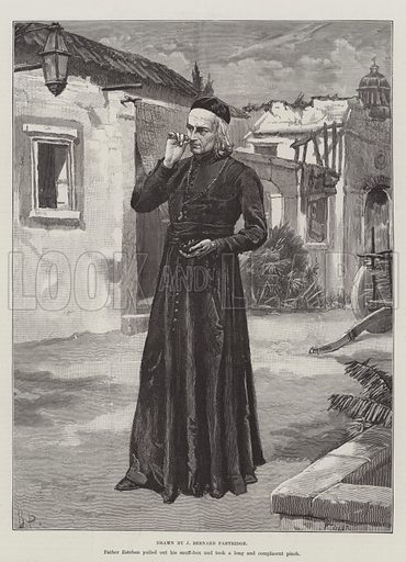 The Crusade of the Excelsior, by Bret Harte. Illustration for The Illustrated London News, 26 February 1887.
