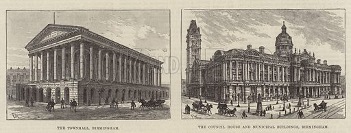Sketches of Birmingham. Illustration for The Illustrated London News, 26 March 1887.
