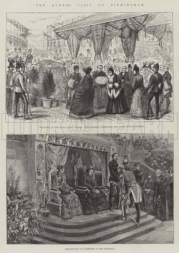 The Queen's Visit to Birmingham. Illustration for The Illustrated London News, 2 April 1887.