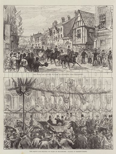 Royal Visit to Manchester. Illustration for The Illustrated London News, 14 May 1887.