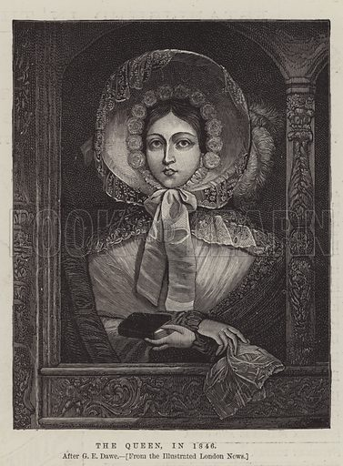The Queen, in 1846. Illustration for The Illustrated London News, 13 June 1887.