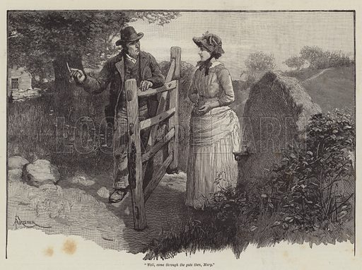 To Call Her Mine, by Walter Besant. Illustration for The Illustrated London News, Summer Number 1887.