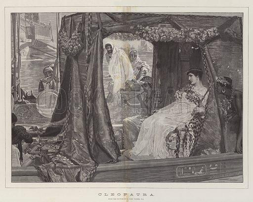 Cleopatra. Illustration for The Illustrated London News, 16 April 1887.