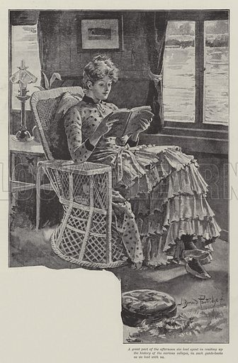 The Strange Adventures of a House-Boat, by William Black. Illustration for The Illustrated London News, 11 February 1888.