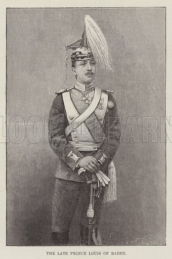 The late Prince Louis of Baden. Illustration for The Illustrated London News, 3 March 1888.