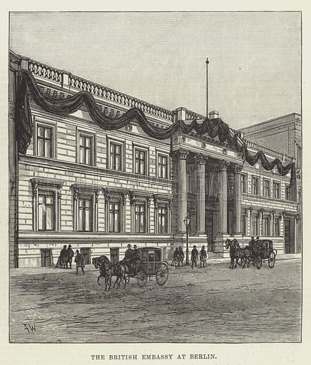The British Embassy at Berlin. Illustration for The Illustrated London News, 24 March 1888.