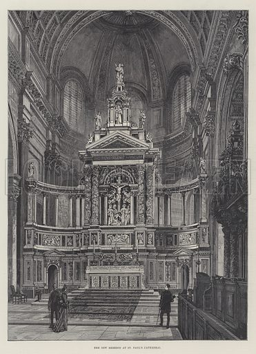The New Reredos at St Paul's Cathedral. Illustration for The Illustrated London News, 31 March 1888.