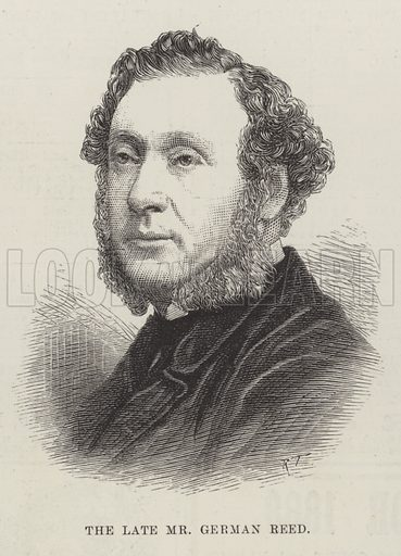 The late Mr German Reed. Illustration for The Illustrated London News, 7 April 1888.