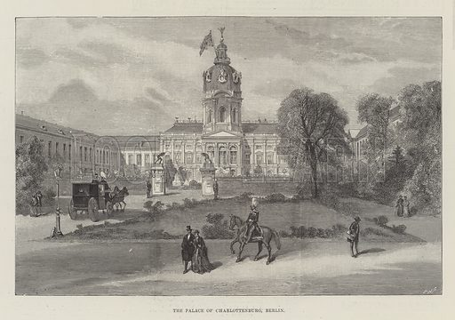 The Palace of Charlottenburg, Berlin. Illustration for The Illustrated London News, 7 April 1888.
