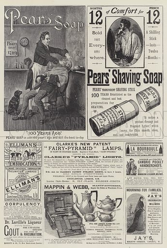 Page of Advertisements. Illustration for The Illustrated London News, 7 April 1888.