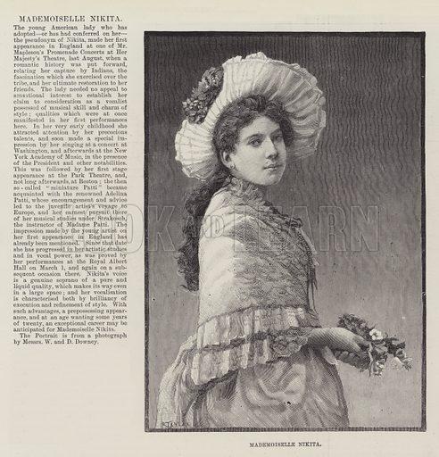 Mademoiselle Nikita. Illustration for The Illustrated London News, 14 April 1888.