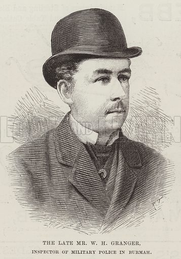 The late Mr WH Granger, Inspector of Military Police in Burmah. Illustration for The Illustrated London News, 9 June 1888.