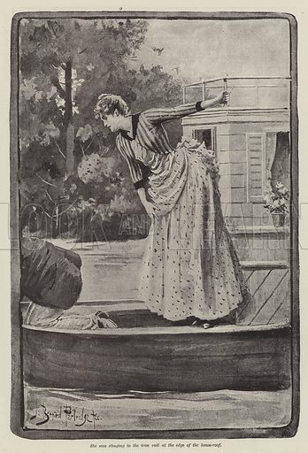 The Strange Adventures of a House-Boat, by William Black. Illustration for The Illustrated London News, 30 June 1888.