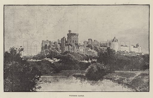Windsor Castle. Illustration for The Illustrated London News, 10 March 1888.