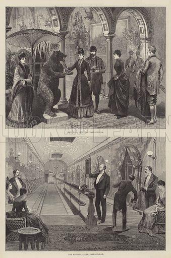 Inside Sandringham. Illustration for The Illustrated London News, 10 March 1888.