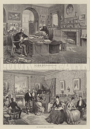 Inside Royal Homes. Illustration for The Illustrated London News, 10 March 1888.